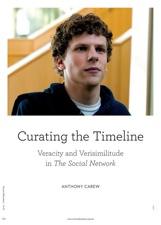 Curating the Timeline: Veracity and Verisimilitude in 'The Social Network'