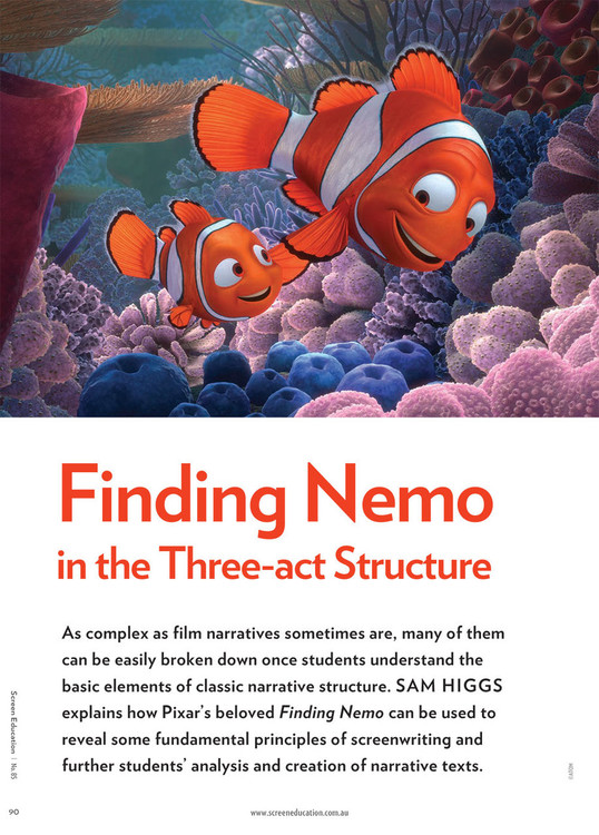 Finding Nemo' in the Three-act Structure
