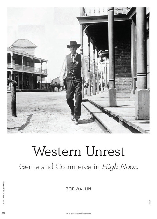 Western Unrest: Genre and Commerce in 'High Noon'