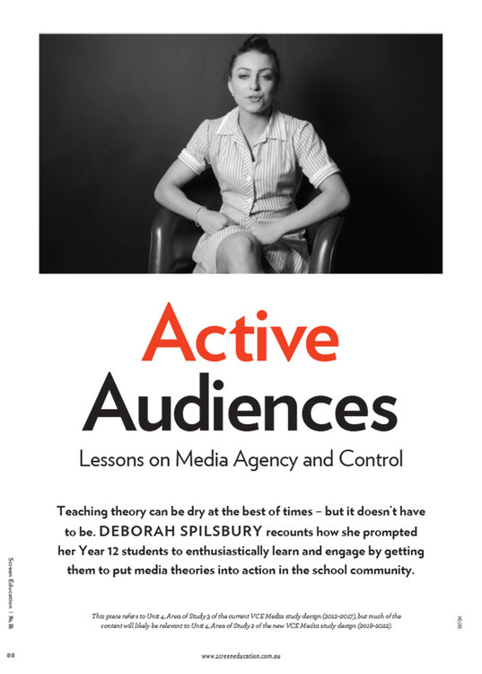 Active Audiences: Lessons on Media Agency and Control