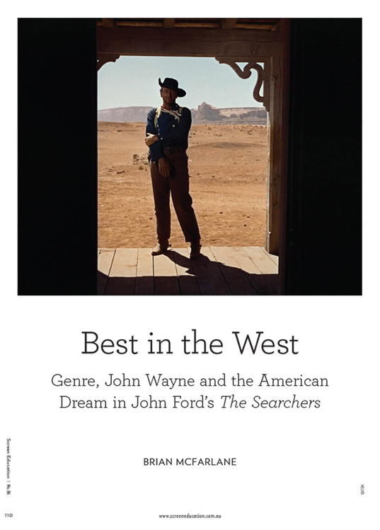 Best in the West: Genre, John Wayne and the American Dream in John Ford's 'The Searchers'