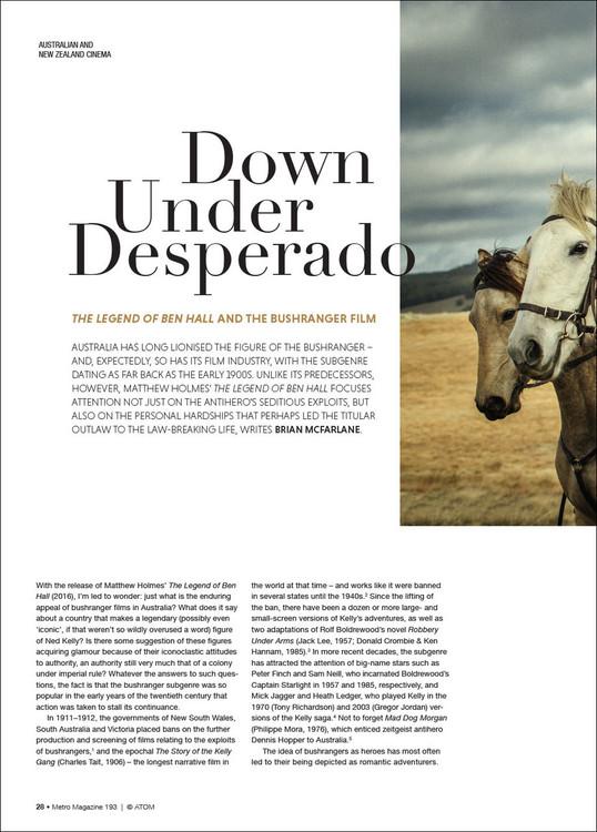 Down Under Desperado: 'The Legend of Ben Hall' and the Bushranger Film