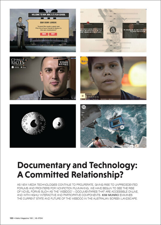 Documentary and Technology: A Committed Relationship?