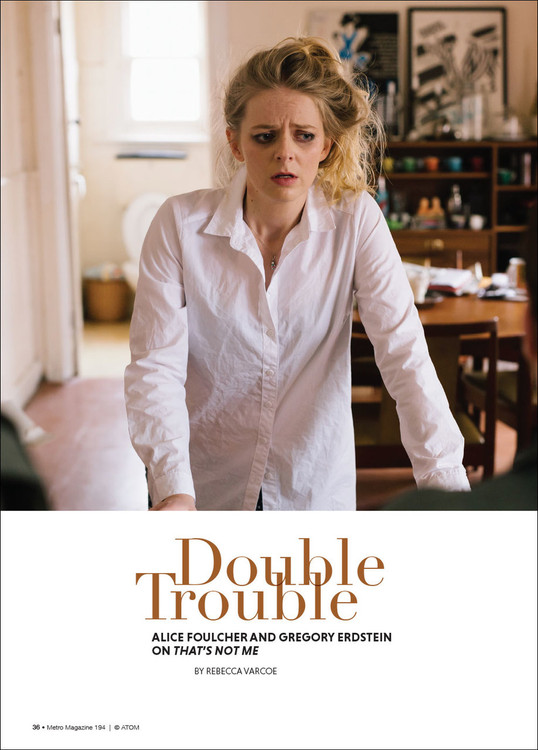 Double Trouble: Alice Foulcher and Gregory Erdstein on 'That's Not Me'