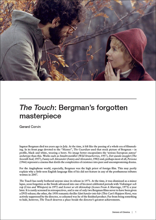 'The Touch': Bergman's forgotten masterpiece