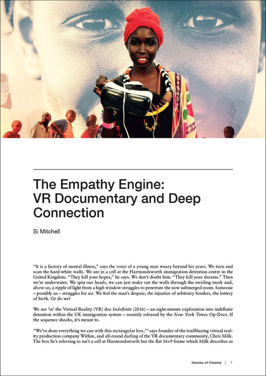 Empathy Engine, The: VR Documentary and Deep Connection