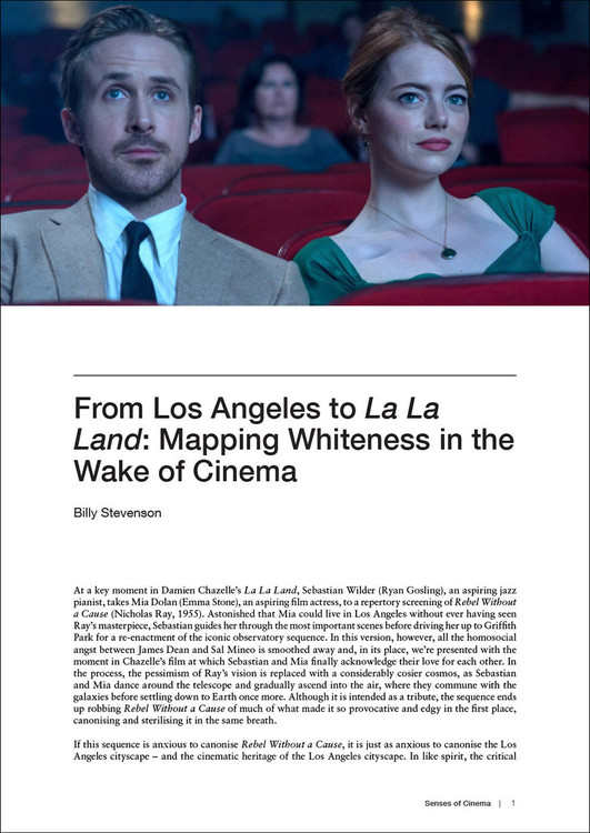 From Los Angeles to 'La La Land': Mapping Whiteness in the Wake of Cinema