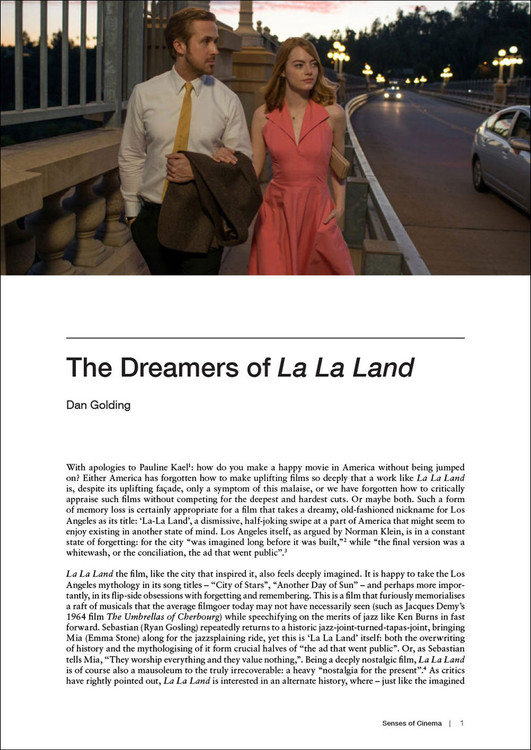 The Dreamers of 'La La Land'
