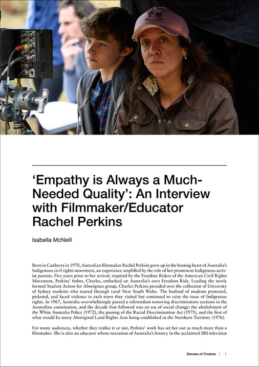 'Empathy is Always a Much-Needed Quality': An Interview with Filmmaker/Educator Rachel Perkins