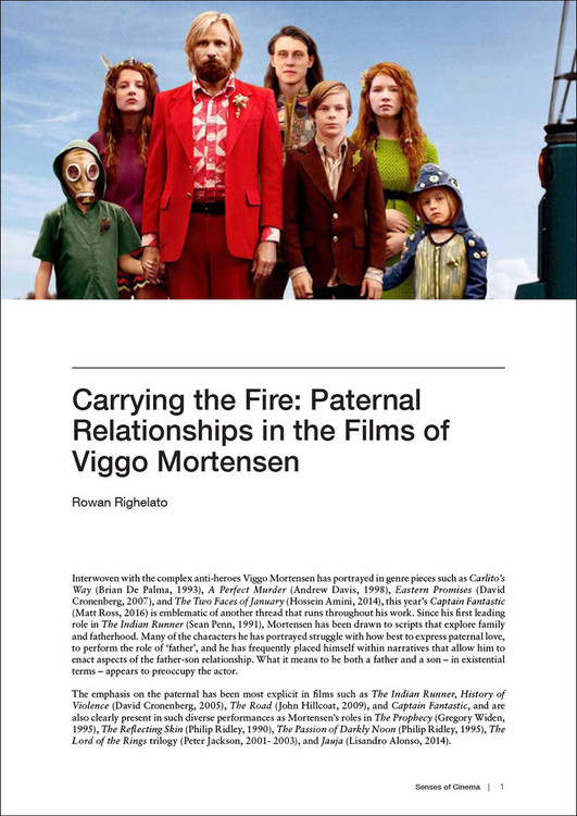 Carrying the Fire: Paternal Relationships in the Films of Viggo Mortensen