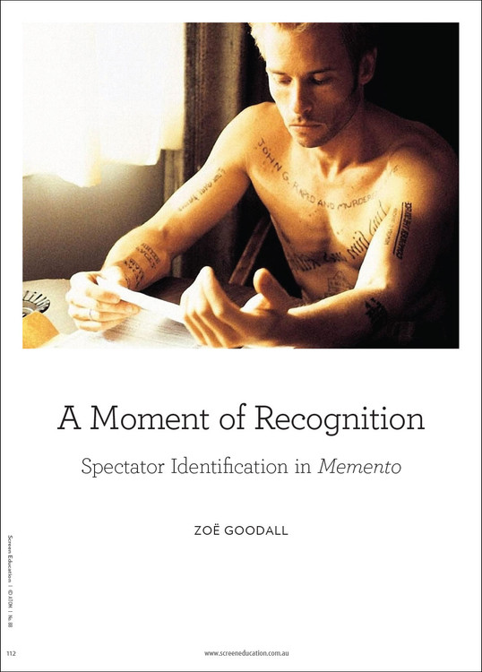 A Moment of Recognition: Spectator Identification in 'Memento'