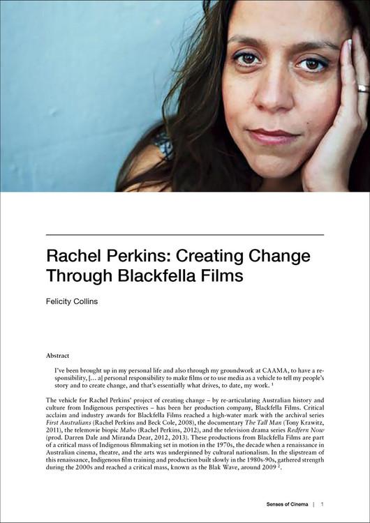 Rachel Perkins: Creating Change Through Blackfella Films