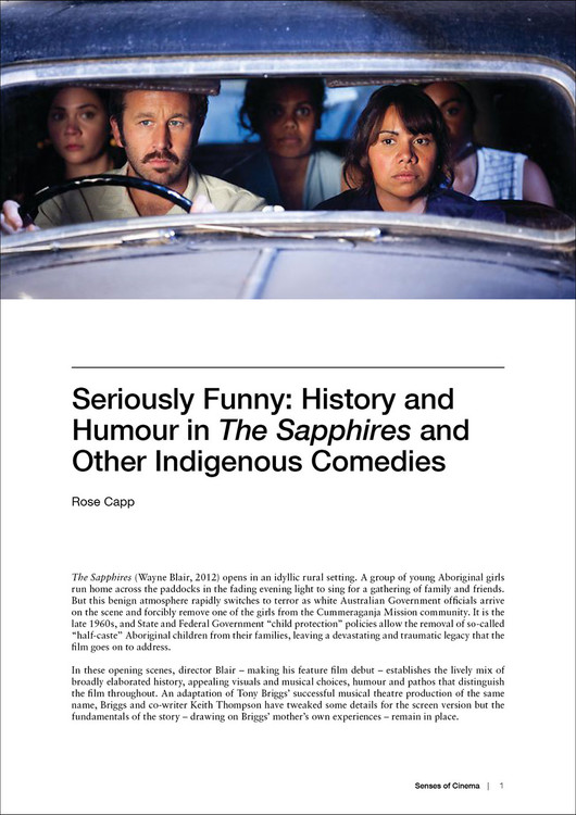 Seriously Funny: History and Humour in 'The Sapphires' and Other Indigenous Comedies