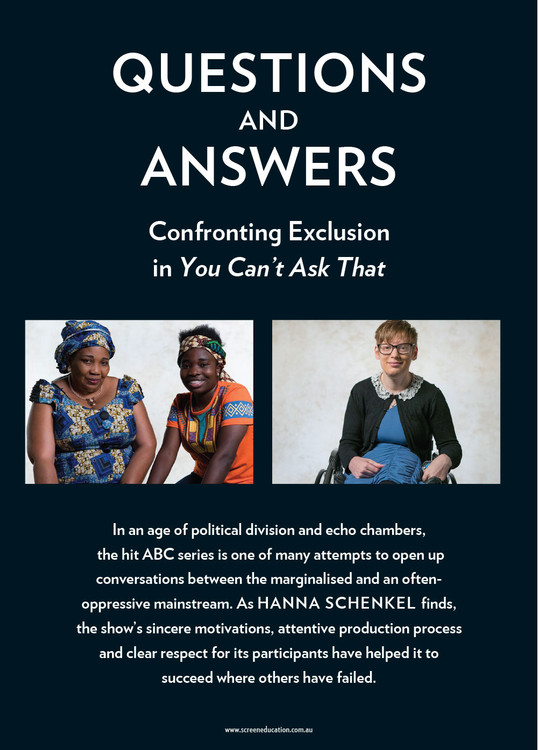 Questions and Answers: Confronting Exclusion in 'You Can't Ask That'
