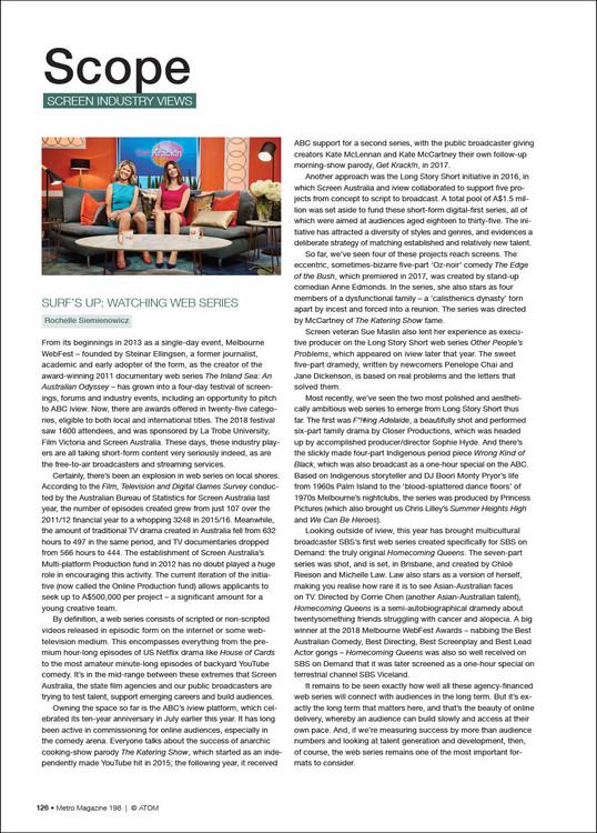 Scope: Screen Industry Views (M198)