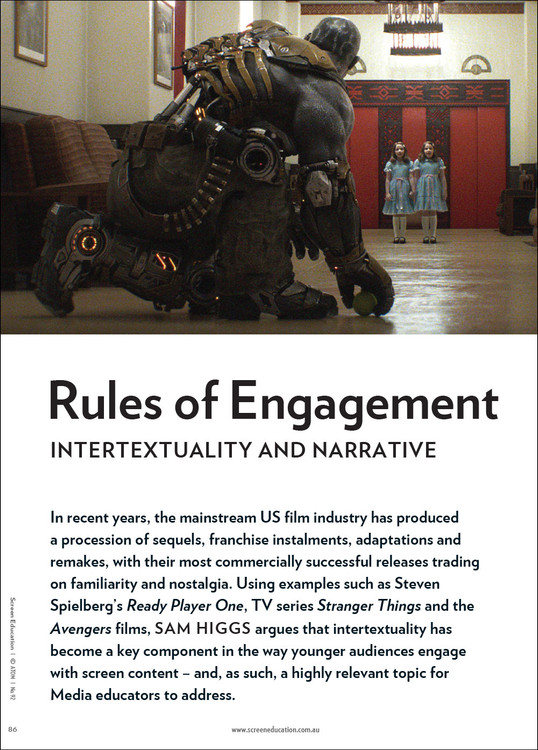 Rules of Engagement: Intertextuality and Narrative