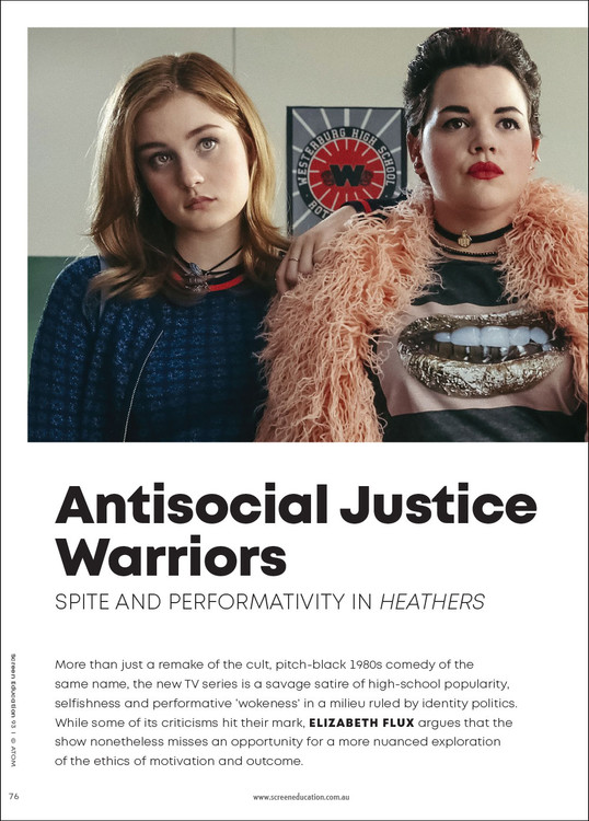 Antisocial Justice Warriors: Spite and Performativity in 'Heathers'