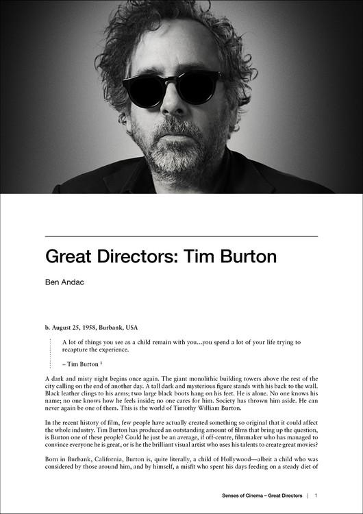 Great Directors: Tim Burton