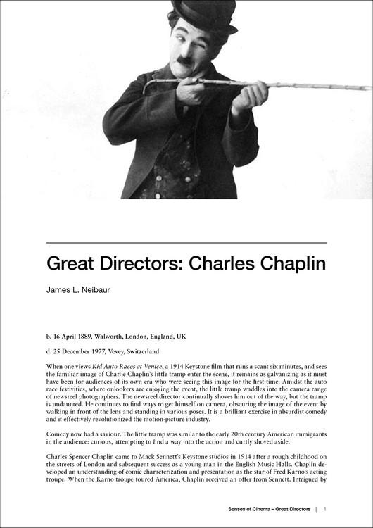 Great Directors: Charles Chaplin