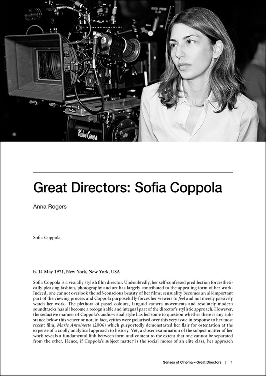 Great Directors: Sofia Coppola