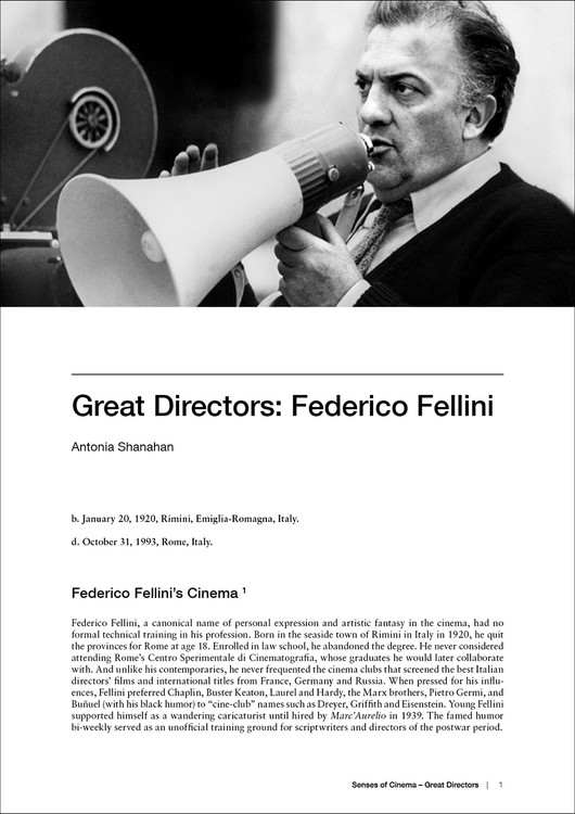 Great Directors: Federico Fellini