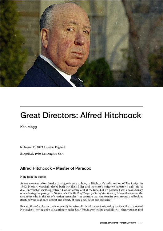 Great Directors: Alfred Hitchcock