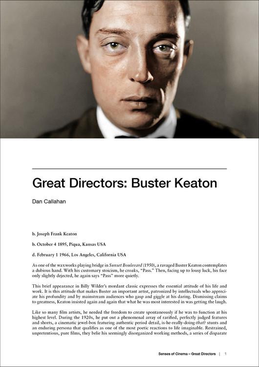 Great Directors: Buster Keaton