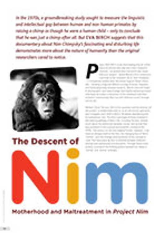 The Descent of Nim: Motherhood and Maltreatment in <i>Project Nim</i>