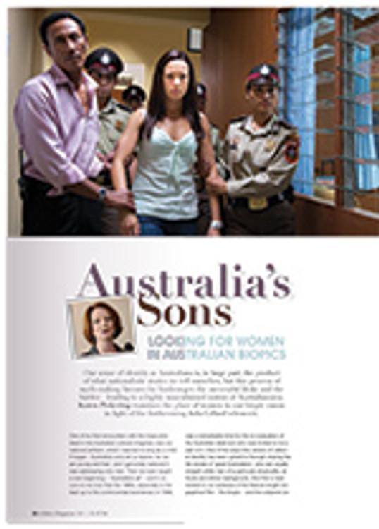 Australia's Sons: Looking for Women in Australian Biopics