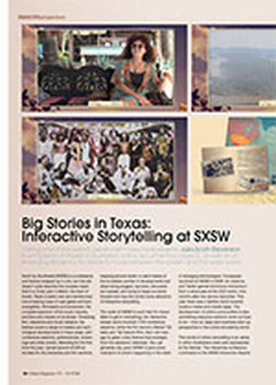 Big Stories in Texas: Interactive Storytelling at SXSW