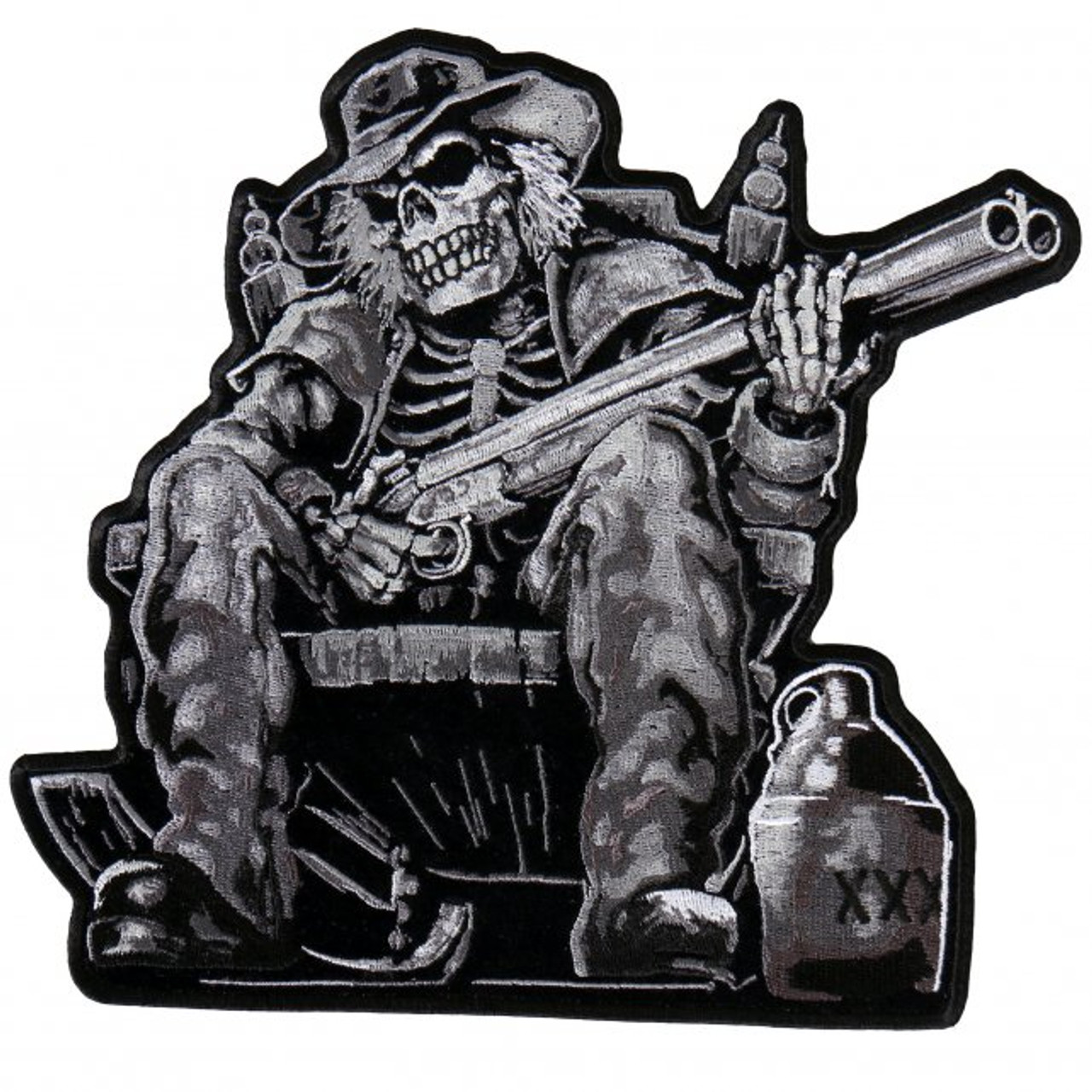 Full Throttle See God Riding Skeleton Patch Biker Back Patches