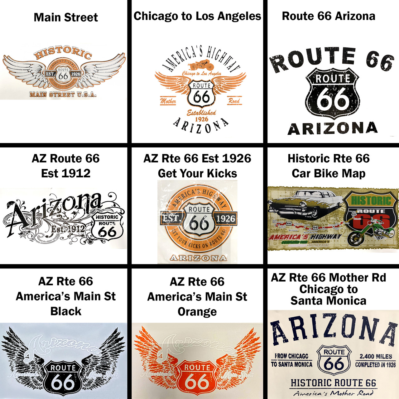 America/'s Highway Route 66 Tank Motorcycle USA Mother Road 1926 Tanktop Gray