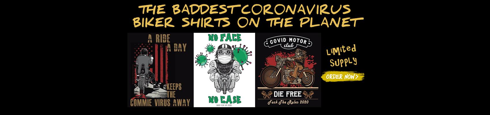 Coronavirus Biker Shirts