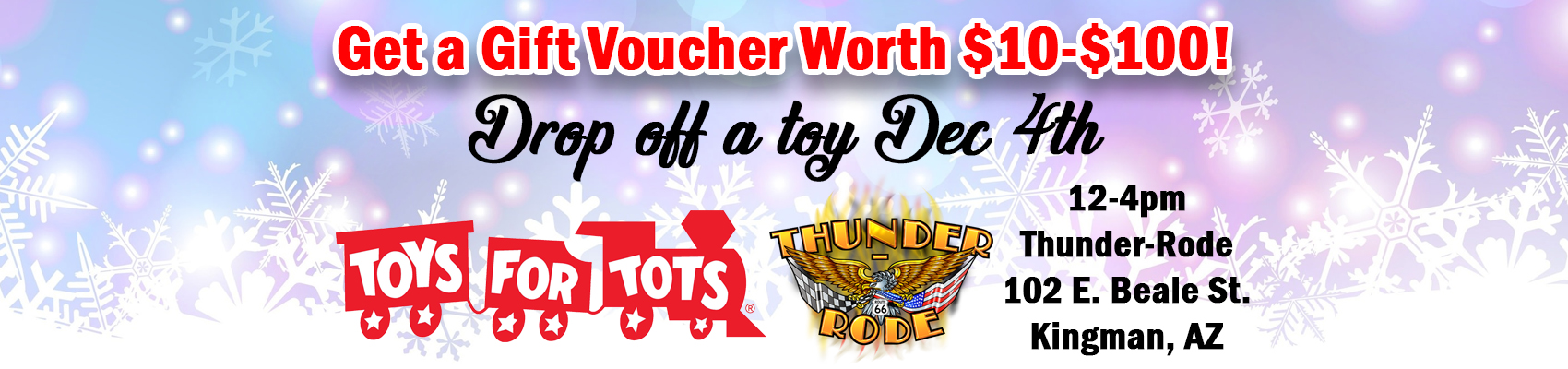 Toys for Tots Kingman AZ at Thunder-Rode