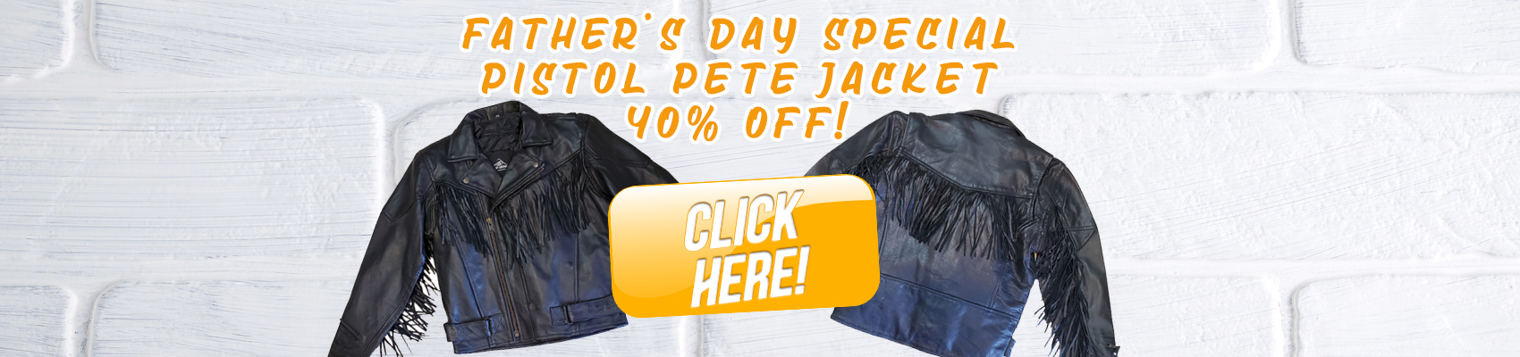 FATHER'S DAY BIKER JACKET SALE