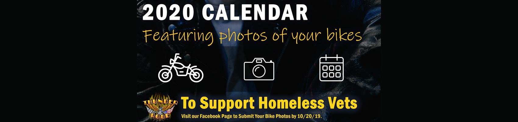 2020 Biker Calendar Supporting Homeless Veterans