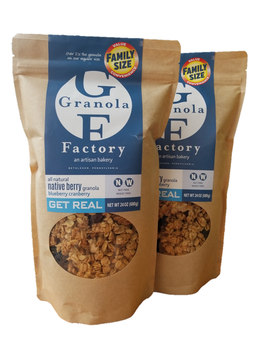 Family Size All-Natural Native Berry Granola (2 Pack)
