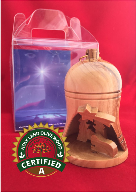 Small Bell Nativity with Display Box