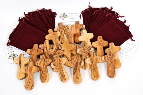 50 Plain Caring Crosses