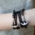 Faith Love Hope - Anchor Bracelet for Men and Women-Durable Wrist Bangle-Unisex Fashion Jewelry (Black Vintage)