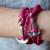 Faith Love Hope - Anchor Bracelet for Men and Women-Durable Wrist Bangle-Unisex Fashion Jewelry (Pink Chrome)