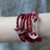 Faith Love Hope - Anchor Bracelet for Men and Women-Durable Wrist Bangle-Unisex Fashion Jewelry (Red Vintage)