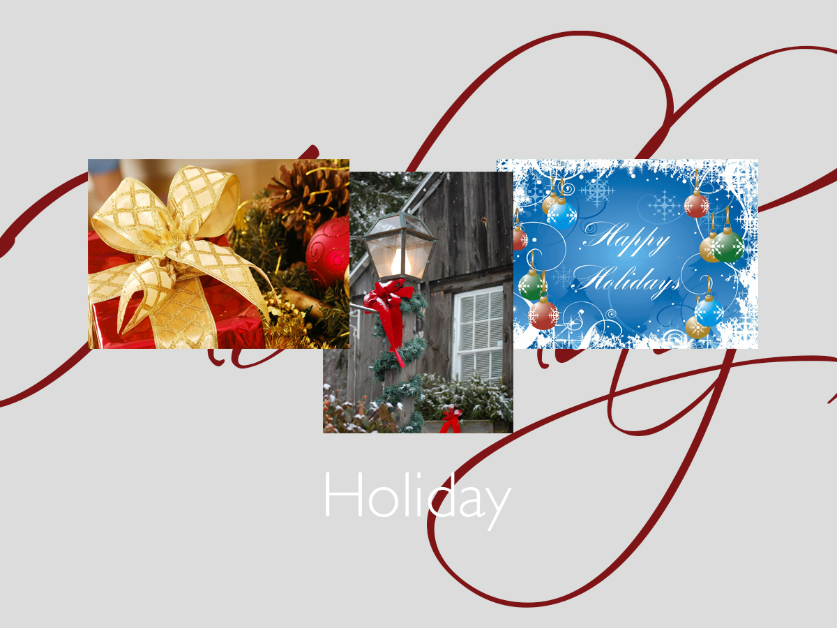 Holiday banner featuring three top-selling holiday cards