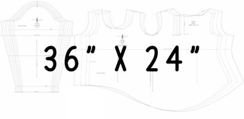 "36"" x 24"" Pattern Printing"
