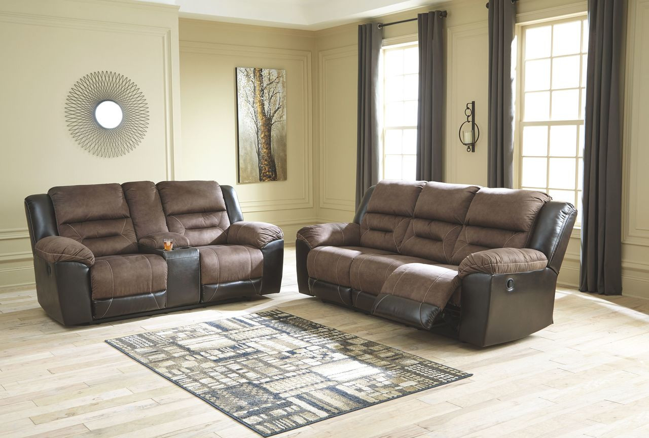 Magnificent Earhart Chestnut Reclining Sofa Double Reclining Loveseat With Console Bralicious Painted Fabric Chair Ideas Braliciousco