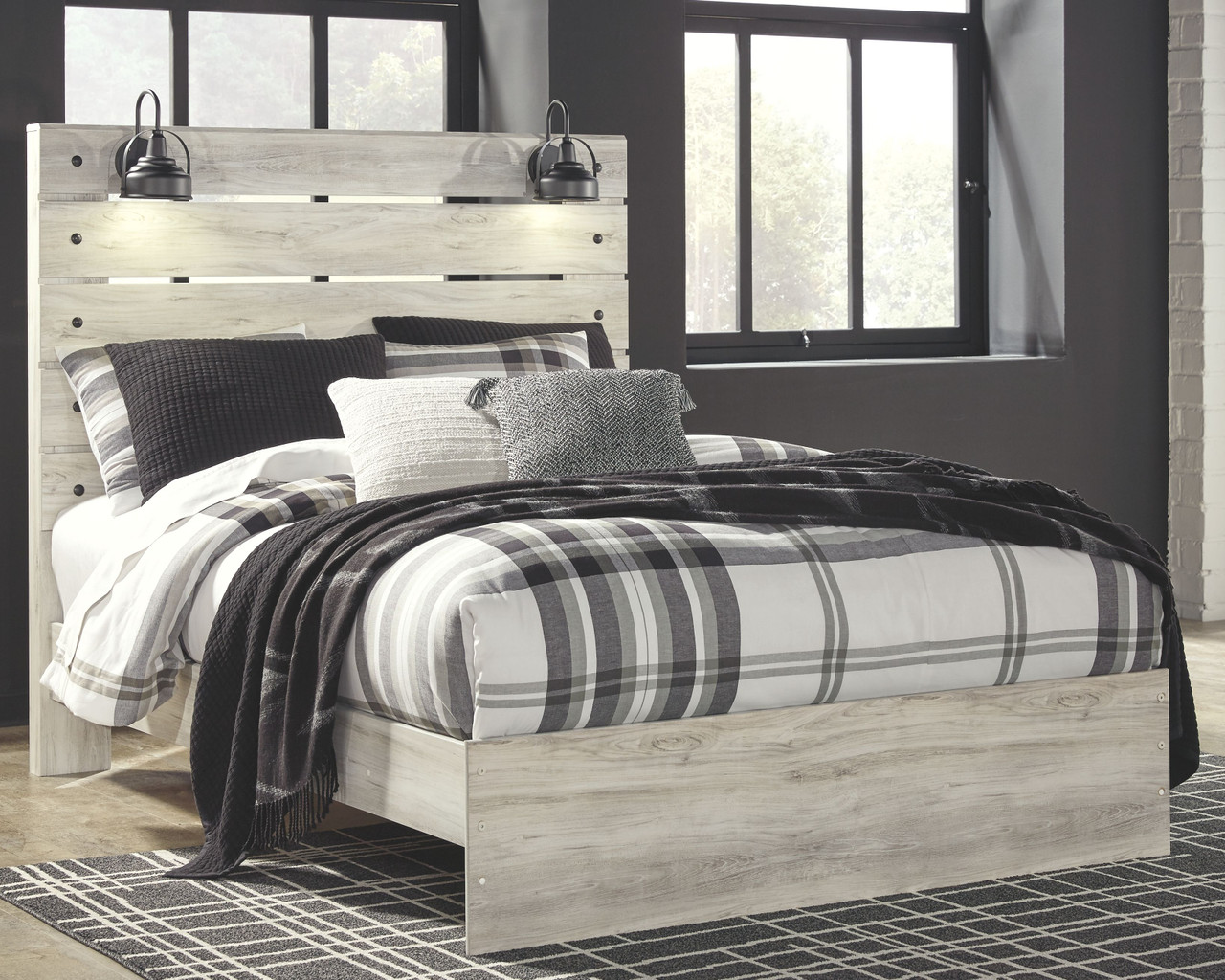 Picture of: The Cambeck Whitewash Queen Panel Bed Available At Royal Star Furniture Serving St Paul Mn