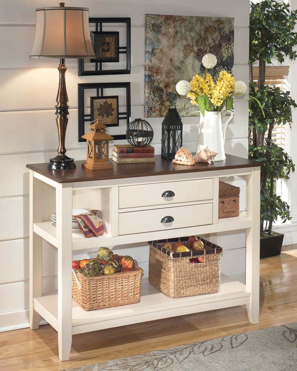 Attrayant Whitesburg Brown/Cottage White Dining Room Server