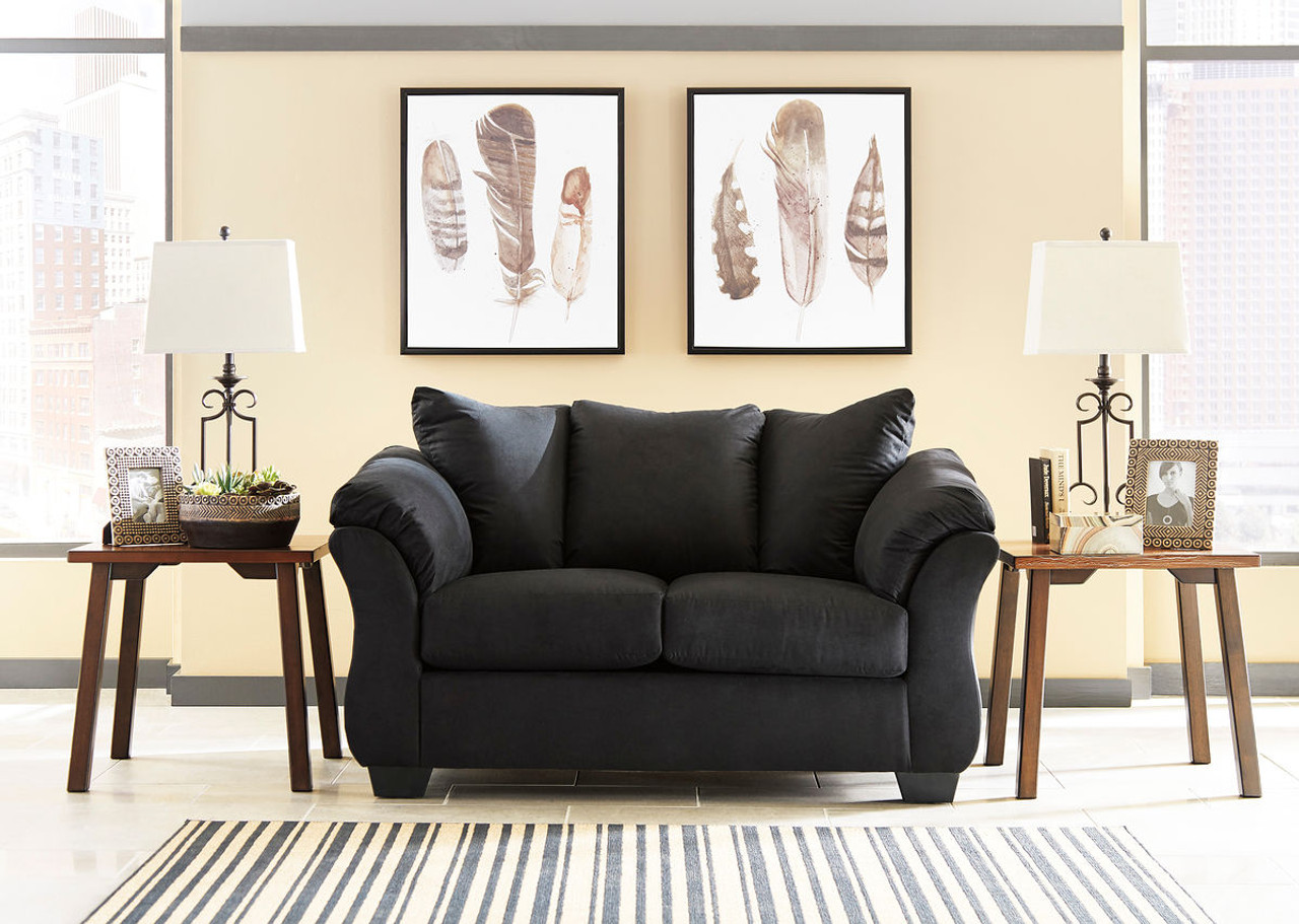 The Darcy Black Loveseat Available At Royal Star Furniture Serving
