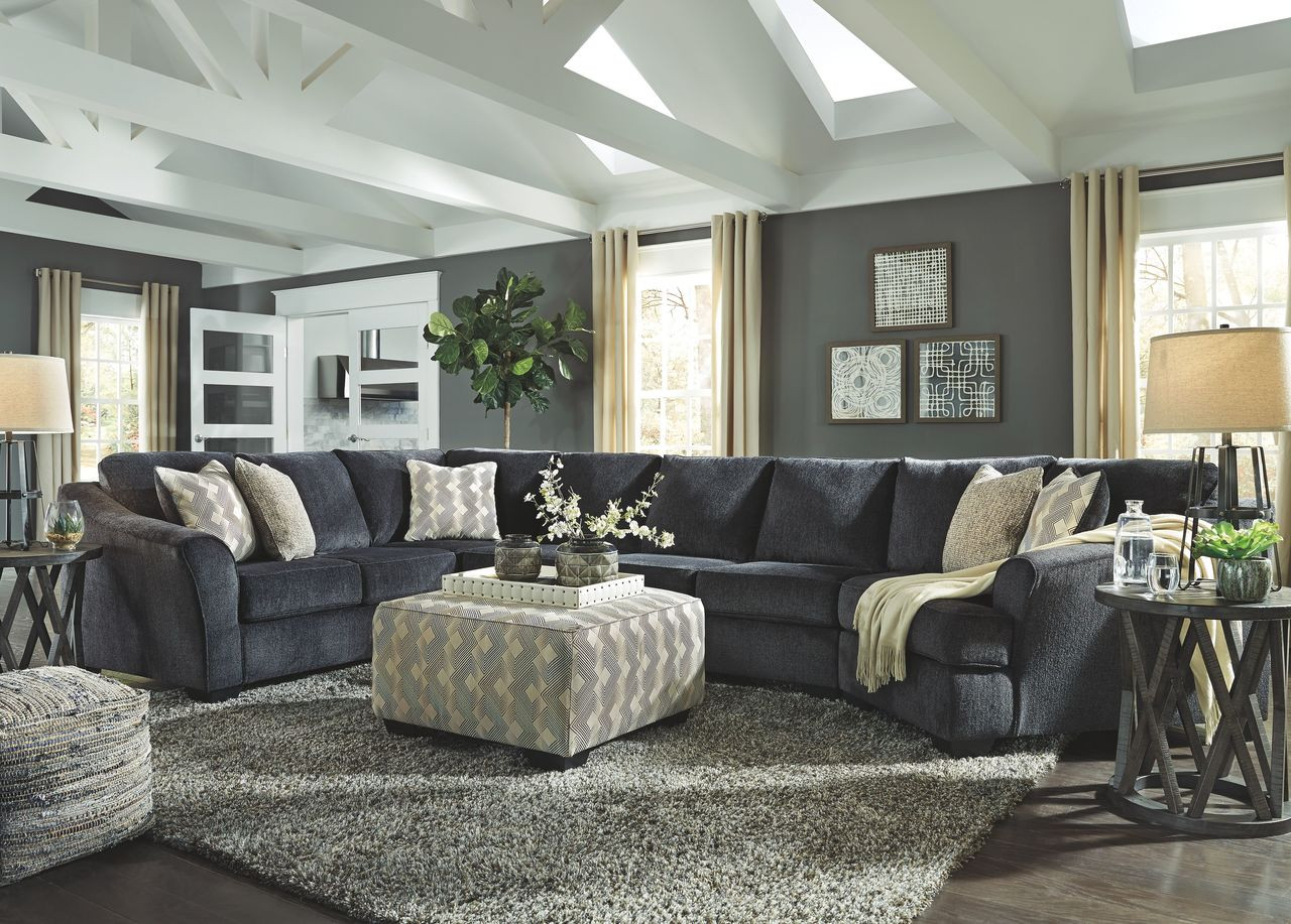 the best attitude 0b637 554fb Eltmann Slate LAF Sofa with Corner Wedge, Armless Loveseat, Armless Chair &  RAF Cuddler Sectional