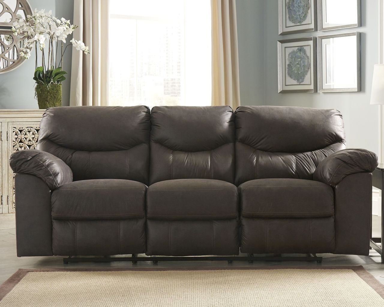 The Boxberg Teak Reclining Sofa Available At Royal Star Furniture